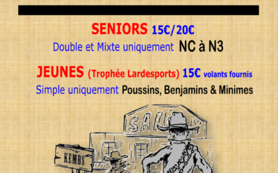 Tournoi Bad'In'Towns 2019
